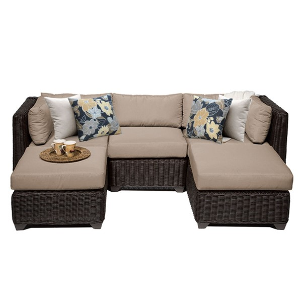 Home Roots Wheat Outdoor Wicker Patio 5pc Furniture Set (05A) OCN-258257