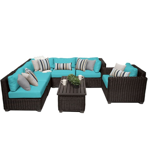HomeRoots Venice Chestnut Brown Wicker 7pc Outdoor Seating Sets (07C) OCN-25829-OUT-SS-VAR