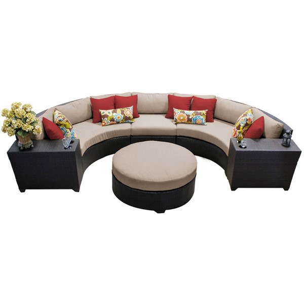 Home Roots Wheat Outdoor Wicker Patio 6pc Furniture Set (06C) OCN-258949