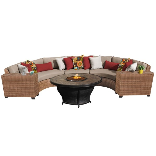 HomeRoots Laguna Wicker 6pc Outdoor Sectionals (06A) OCN-2590-OUT-SEC-VAR