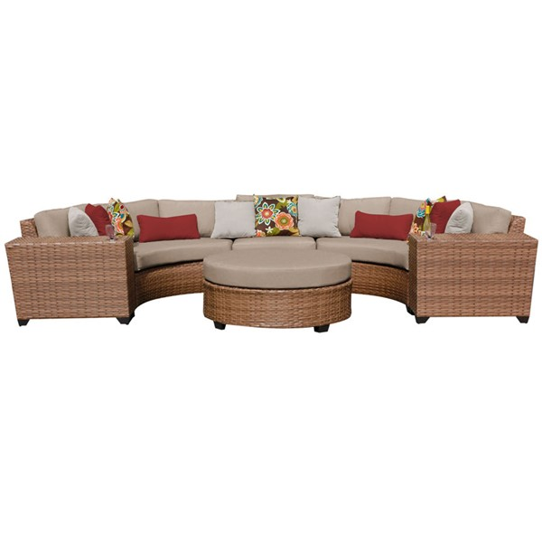 Home Roots Laguna Wheat Outdoor Wicker Patio 6pc Furniture Set (06C) OCN-259015
