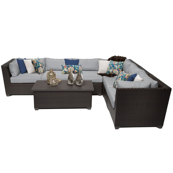 HomeRoots Grey Outdoor Wicker Patio 7pc Furniture Set (07B) OCN-259350