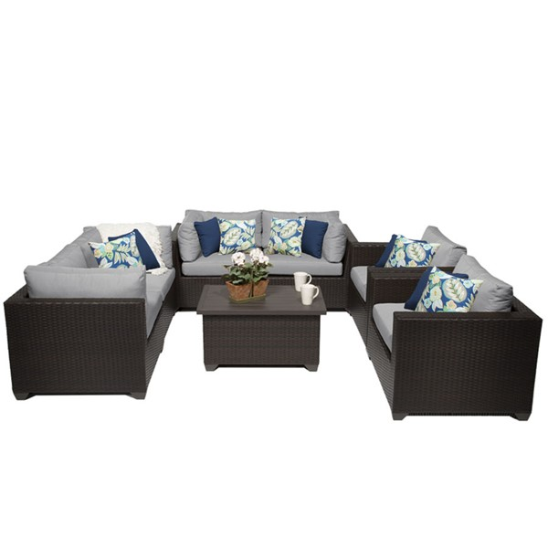 HomeRoots Belle Outdoor Wicker Patio 7pc Furniture Set (07C) OCN-259426-OT-SS-VAR