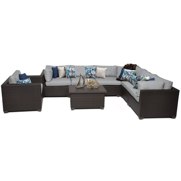 HomeRoots Belle Outdoor Wicker Patio 8pc Furniture Set (08B) OCN-259430-OT-SEC-VAR