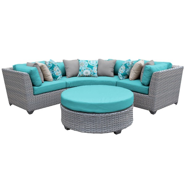 HomeRoots Florence Outdoor Wicker Patio 4pc Furniture Set (04A) OCN-259531-OT-SEC-VAR