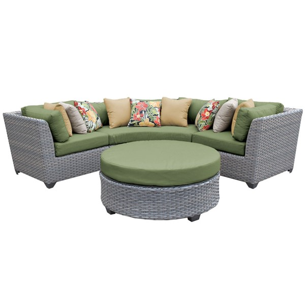 Home Roots Florence Cilantro Outdoor Wicker Patio 4pc Furniture Set (04A) OCN-259533