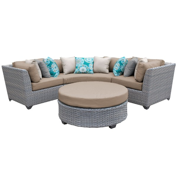 Home Roots Florence Wheat Outdoor Wicker Patio 4pc Furniture Set (04A) OCN-259539