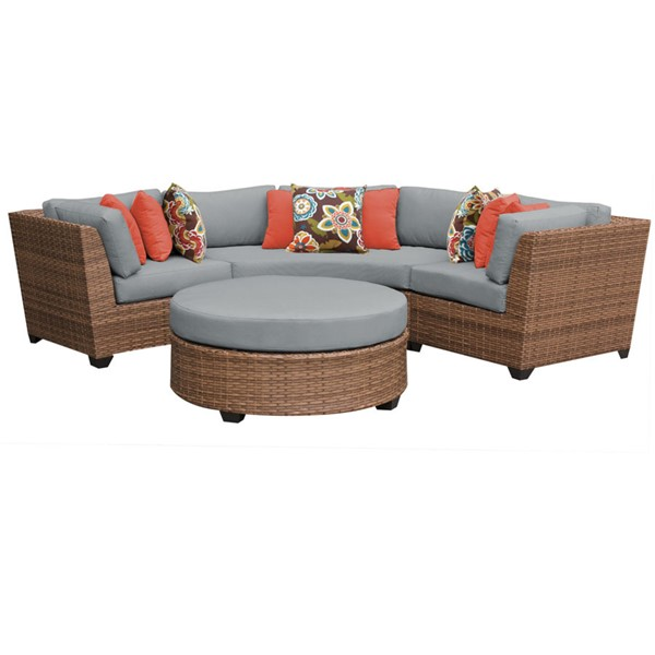 HomeRoots Laguna Outdoor Wicker Patio 4pc Furniture Set (04A) OCN-259980-OT-SEC-VAR