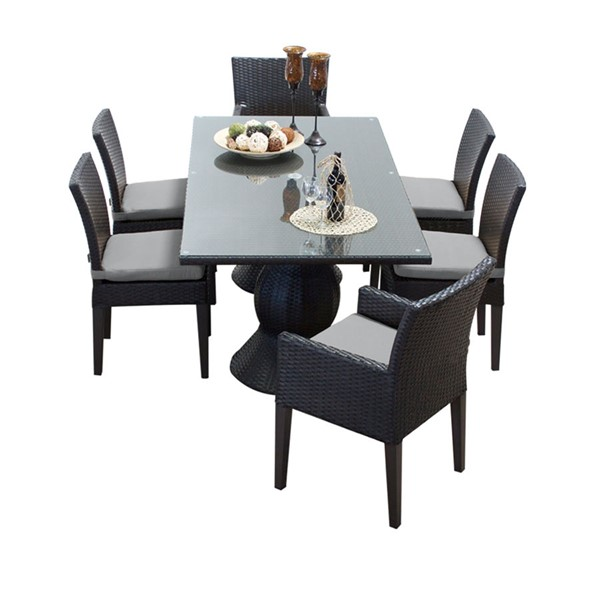 HomeRoots Napa Rectangular Patio Outdoor Dining Sets with 4 Armless Chairs OCN-260180-OT-DS-VAR