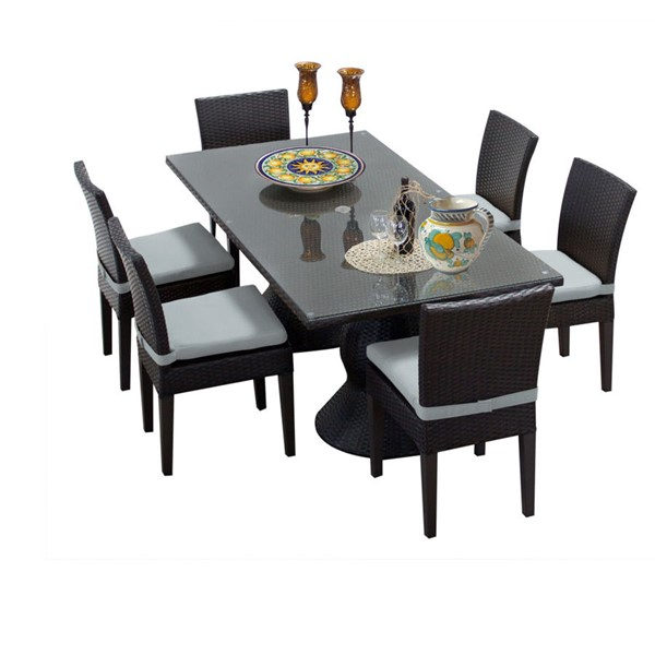HomeRoots Napa Rectangular Patio Outdoor Dining Sets OCN-260186-OT-DS-VAR