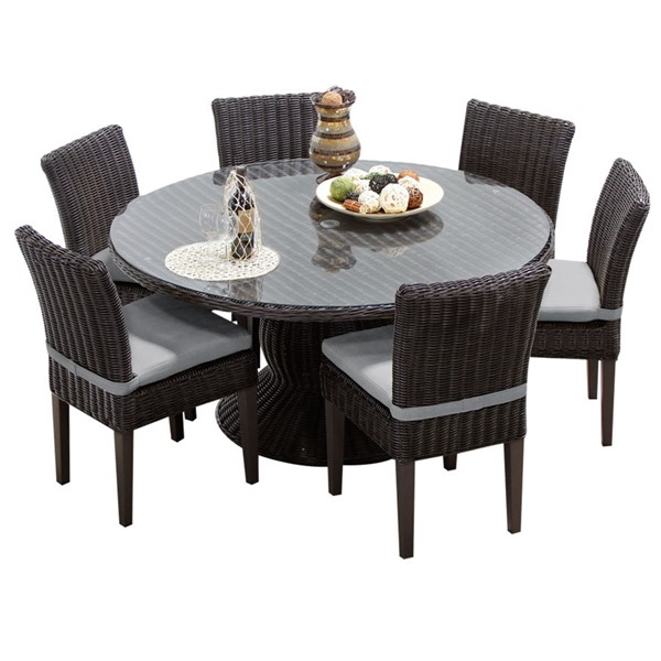 HomeRoots Venice Grey Tangerine 7pc Outdoor Dining Sets OCN-26019-OUT-DS-VAR