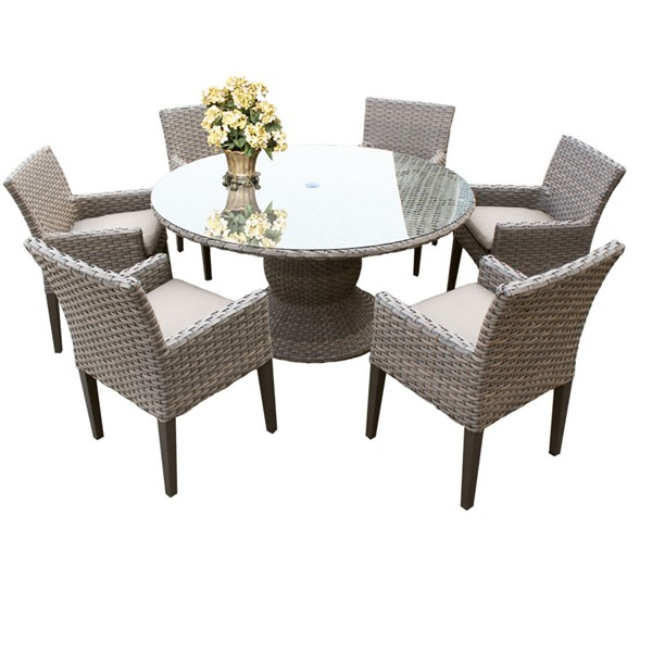 Home Roots Oasis Beige 60 Inch Patio Outdoor Dining Sets OCN-260224