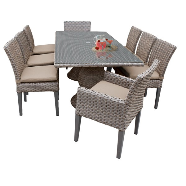 Home Roots Oasis Wheat Patio Outdoor Dining Sets OCN-260254