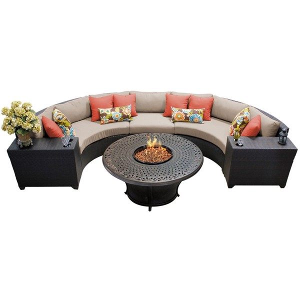 HomeRoots Wicker 6pc Outdoor Sectionals (06I) OCN-2603-OUT-SEC-VAR