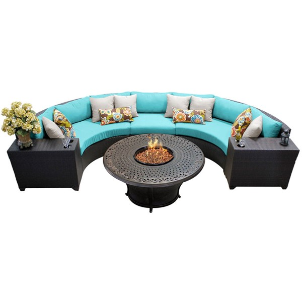 HomeRoots Espresso Wicker 6pc Outdoor Sectionals (06I) OCN-26037-OUT-SEC-VAR