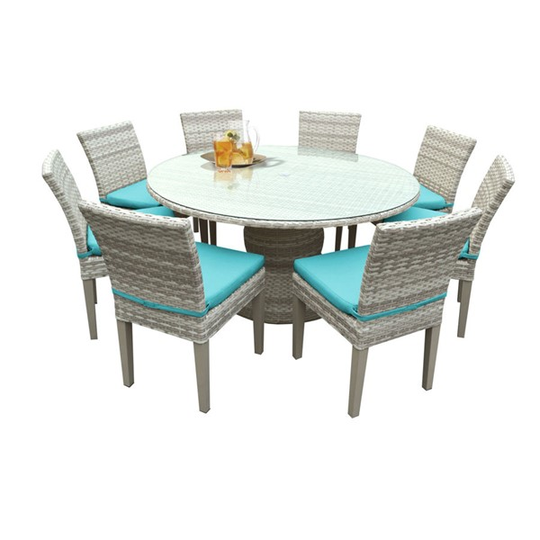 HomeRoots Fairmont Aruba Beige 60 Inch Patio Outdoor Dining Sets OCN-260915-OT-DS-VAR