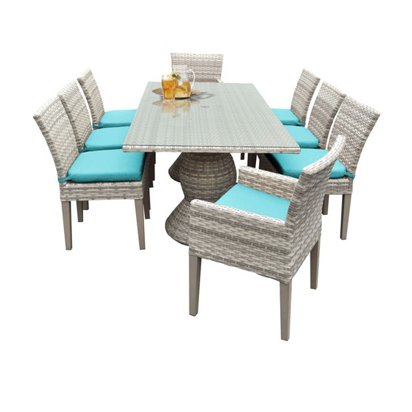 HomeRoots Fairmont Patio Outdoor Dining Sets with 6 Armless Chairs OCN-260995-OT-DS-VAR