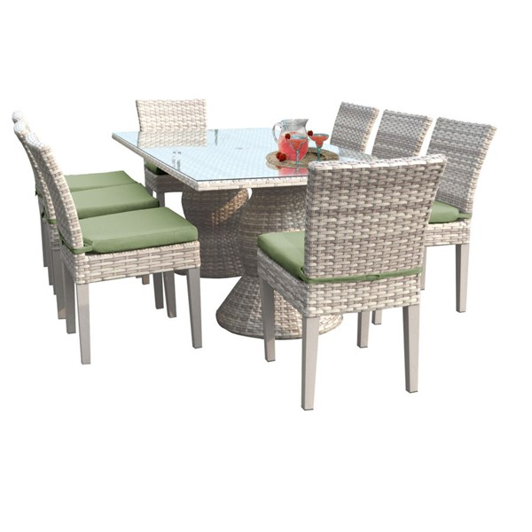 Home Roots Fairmont Cilantro Rectangular Patio Outdoor Dining Sets OCN-261009