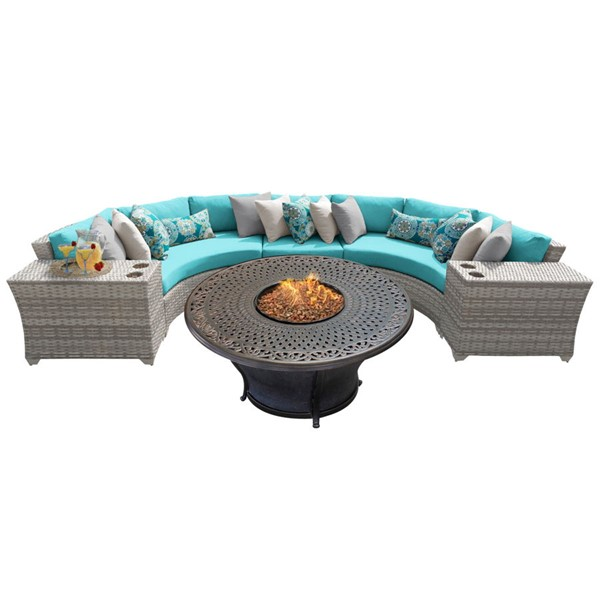 HomeRoots Vanilla Creme Wicker 6pc Outdoor Sectionals (06I) OCN-26108-OUT-SEC-VAR