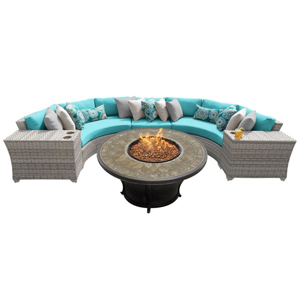 HomeRoots Vanilla Creme Wicker 6pc Outdoor Sectionals (06A) OCN-26131-OUT-SEC-VAR