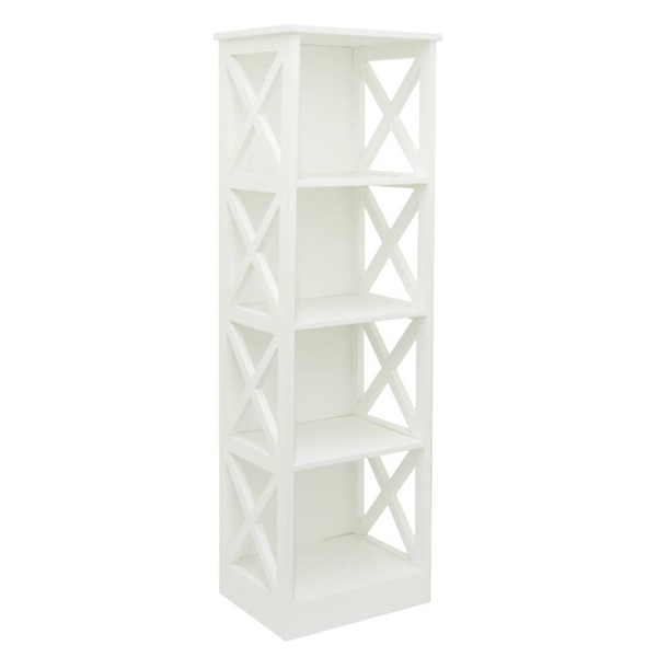 Homeroots White Wood Striking Storage Rack OCN-269173