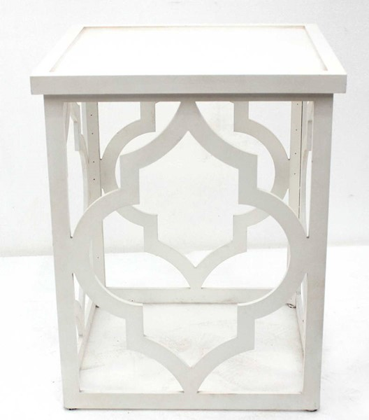 Homeroots Ivory Wood Square End Table OCN-274396