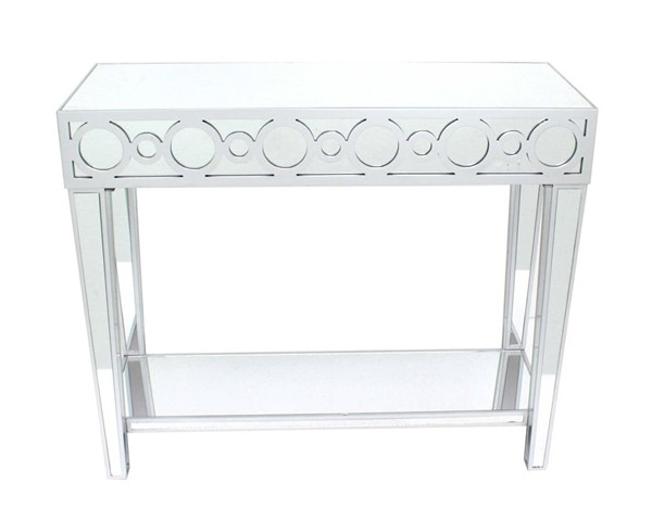 Homeroots Silver Metal Circles Console Table OCN-274432