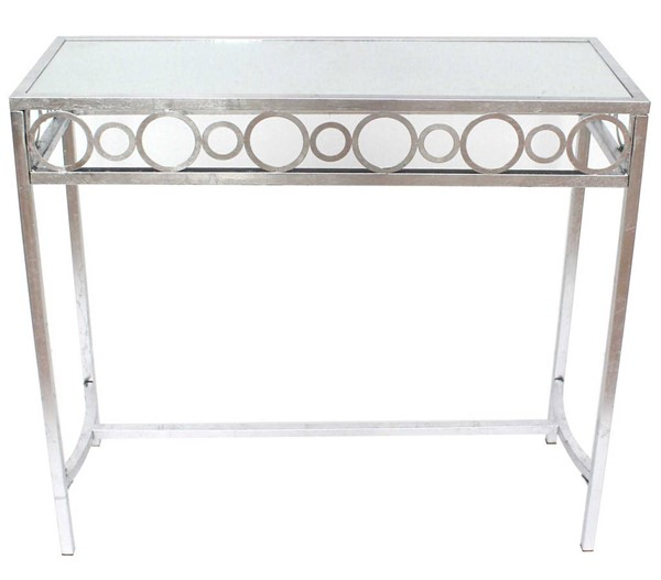 Homeroots Silver Metal Console Table OCN-274434