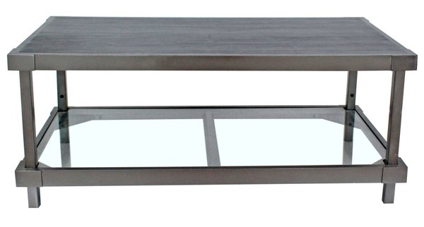 Homeroots Charcoal Wood Hall Coffee Table OCN-274440