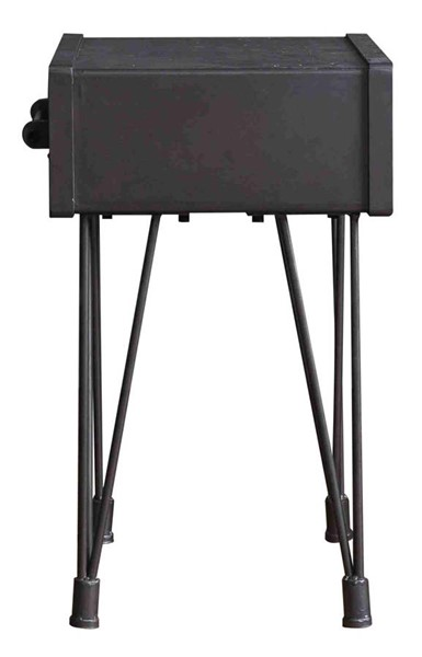 Homeroots Charcoal Wood 1 Drawer End Table OCN-277062