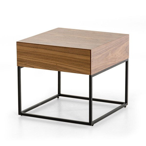 Home Roots Walnut Modern Drawer End Table OCN-282735