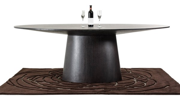 Homeroots Wenge 30 Inch Oval Dining Table OCN-282791