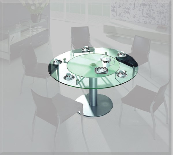 Home Roots Modern Round Glass Table OCN-282853