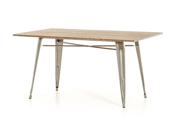 Home Roots Modern Steel Wood Dining Table OCN-282884