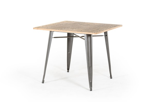 HomeRoots Grey Modern Square Dining Table OCN-282886