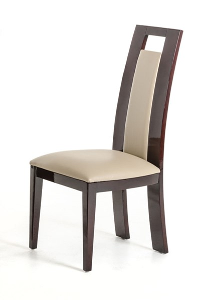 2 HomeRoots Taupe Ebony Dining Chairs OCN-282994