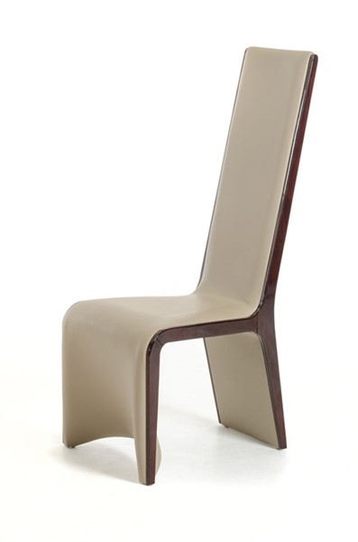 2 HomeRoots Taupe Ebony Modern Dining Chairs OCN-282998