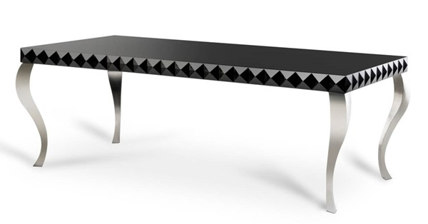 Homeroots Black Lacquer Dining Table OCN-283051