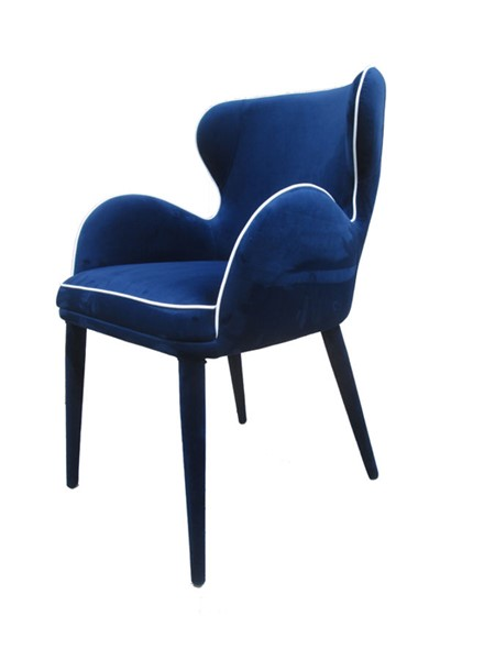 HomeRoots Blue Fabric Dining Chair OCN-283094
