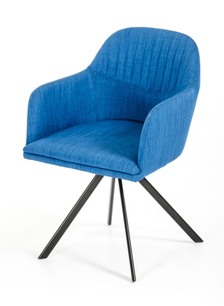HomeRoots Blue Fabric Dining Arm Chair OCN-283108