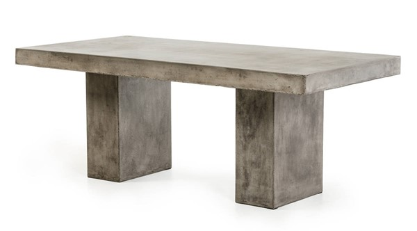 Homeroots Dark Grey Concrete Dining Table OCN-283280
