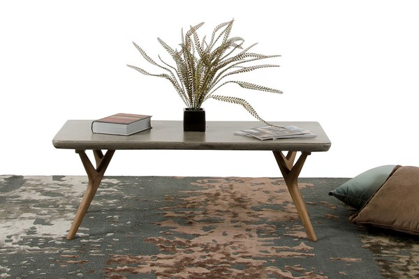 HomeRoots Concrete Coffee Table OCN-283308-CT-VAR