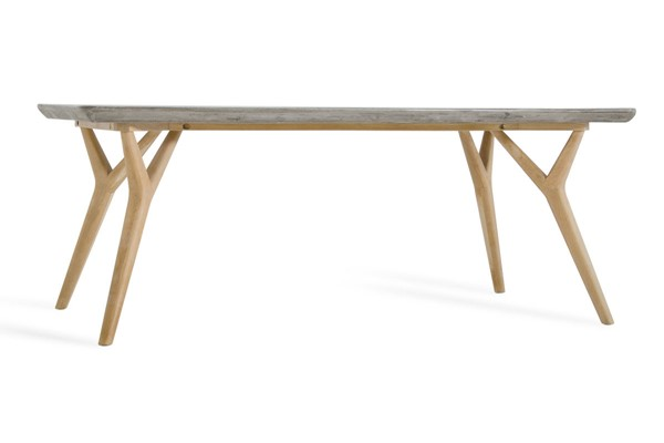 Home Roots Concrete Natural Oak Dining Table OCN-283314