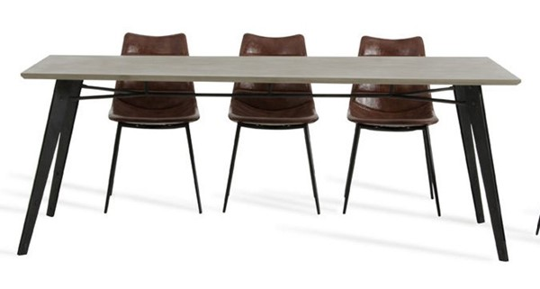 Home Roots Black Modern Concrete Dining Table OCN-283315