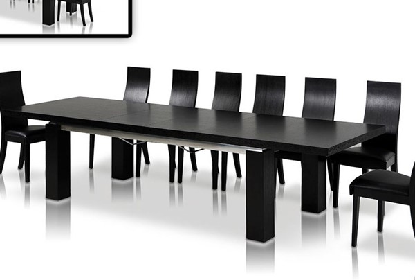 Homeroots Black MDF Rectangle Dining Table OCN-283324