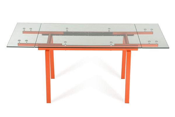 Home Roots Glass Extendable Dining Table OCN-283336
