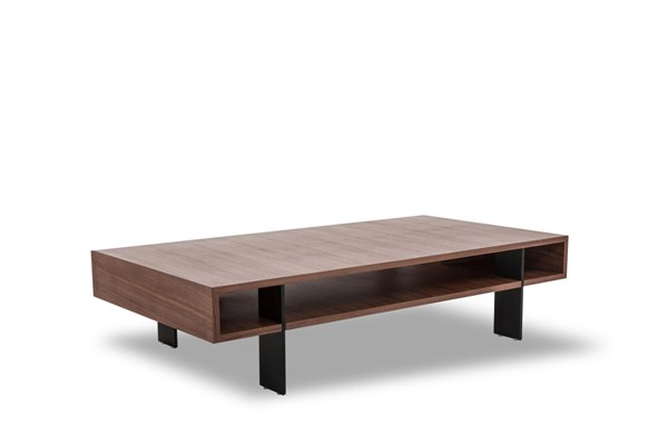 HomeRoots Walnut Veneer Modern Coffee Table OCN-283392