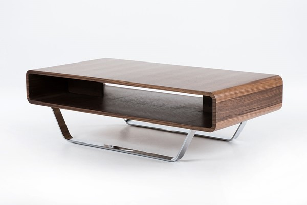 HomeRoots Walnut Modern Matte Coffee Table OCN-283398