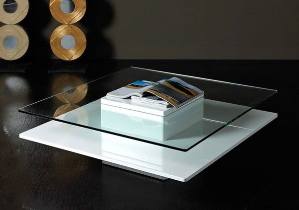 Homeroots White MDF Glass Top Coffee Tables OCN-283450-CT-VAR