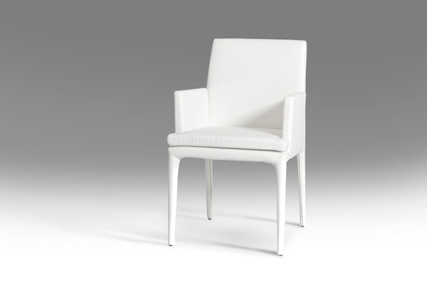 HomeRoots White Leatherette Dining Chair OCN-283460